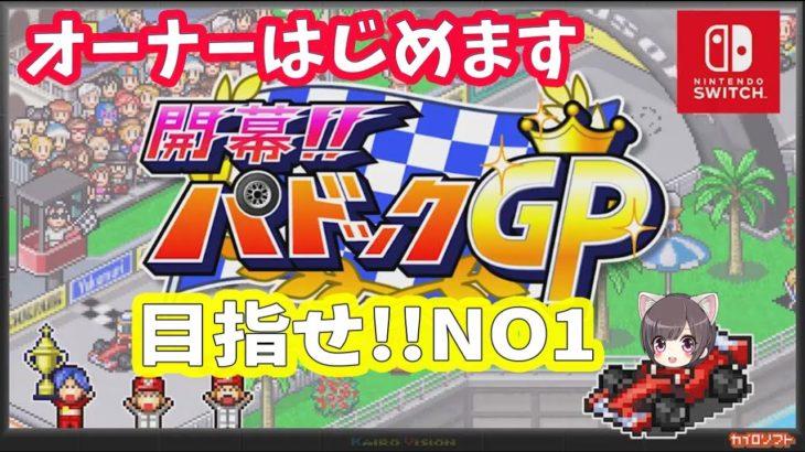 【開幕パドックGP】レースチームのオーナーになってGP制覇を目指せ!【カイロソフト】